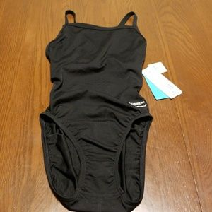 Speedo endurance+ black race suit 28 B111:7:118
